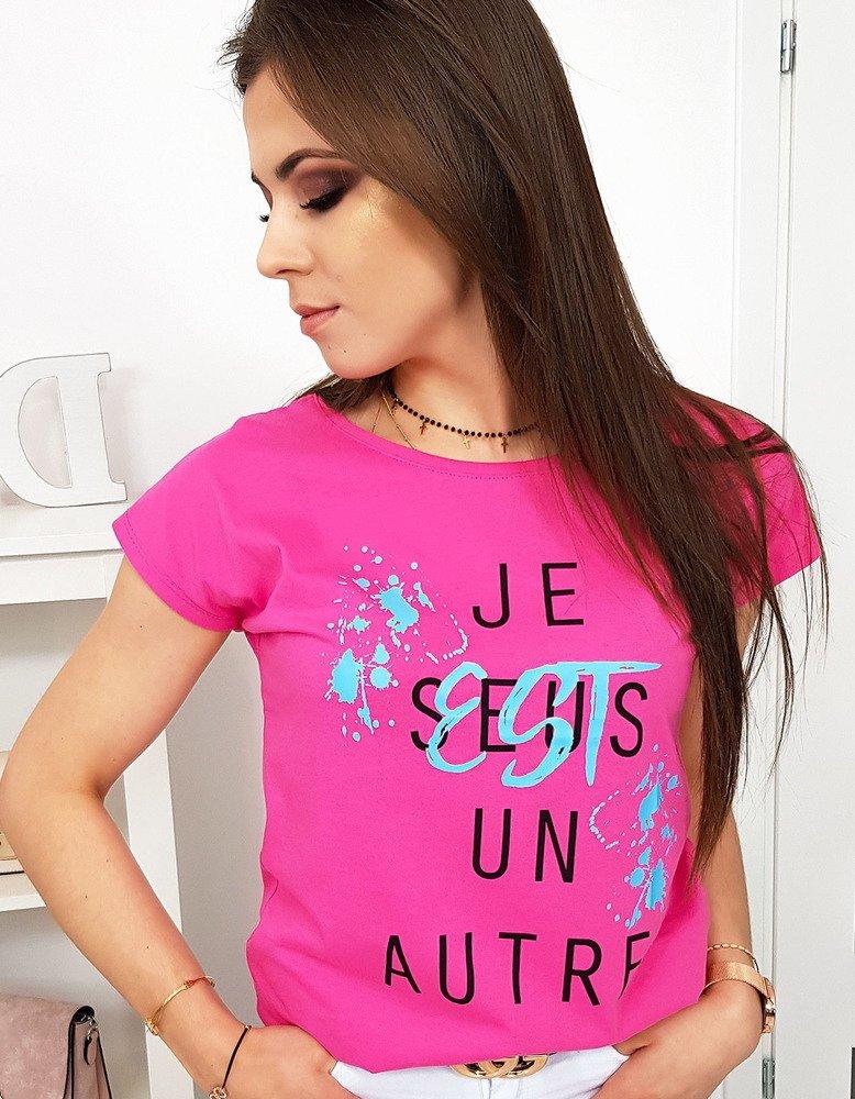 Damské tričko ružové s potlačou