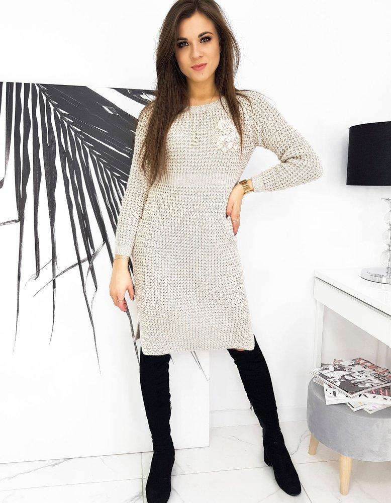 Krásne dámske pletené šaty LAUREN EY1418