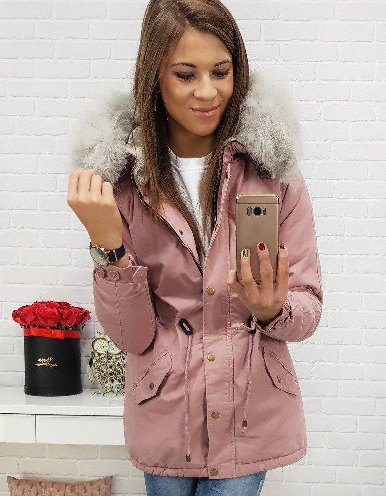 Dámska ružová bunda na zimu (ty0411)
