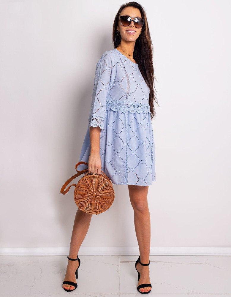 Svetlo modré dámske šaty ALISON (ey0779)