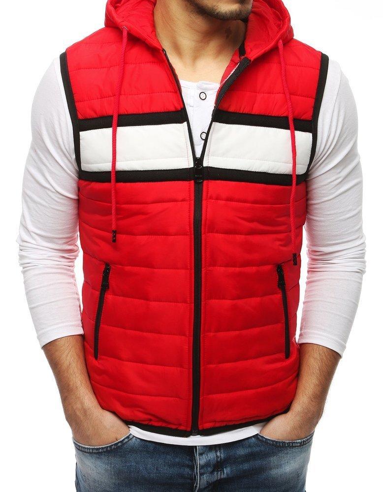 Červená prešívaná vesta TX3166