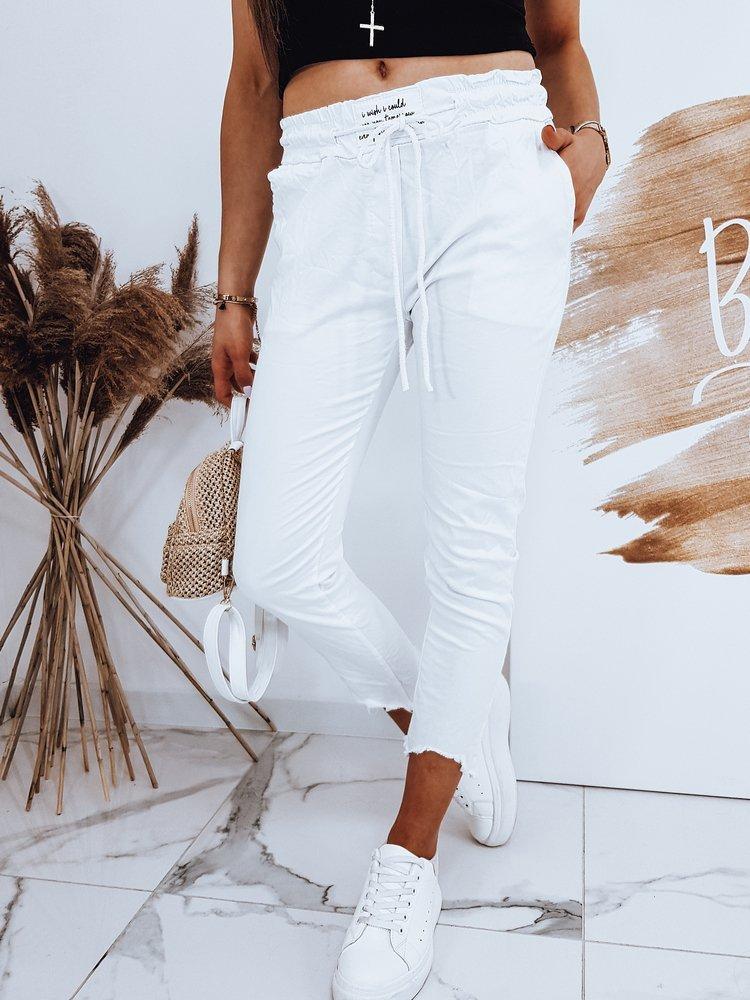 Spodnie damskie DAVIDS białe UY0521