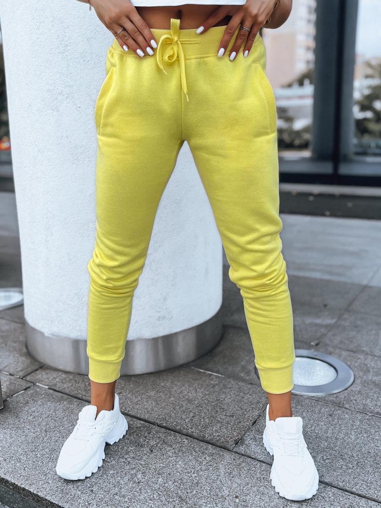 Spodnie damskie dresowe FITS żółte UY0580