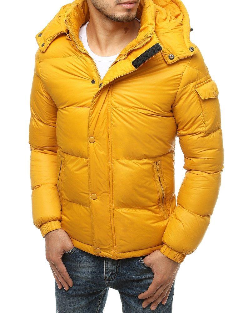 Pánska žltá zimná bunda TX3494