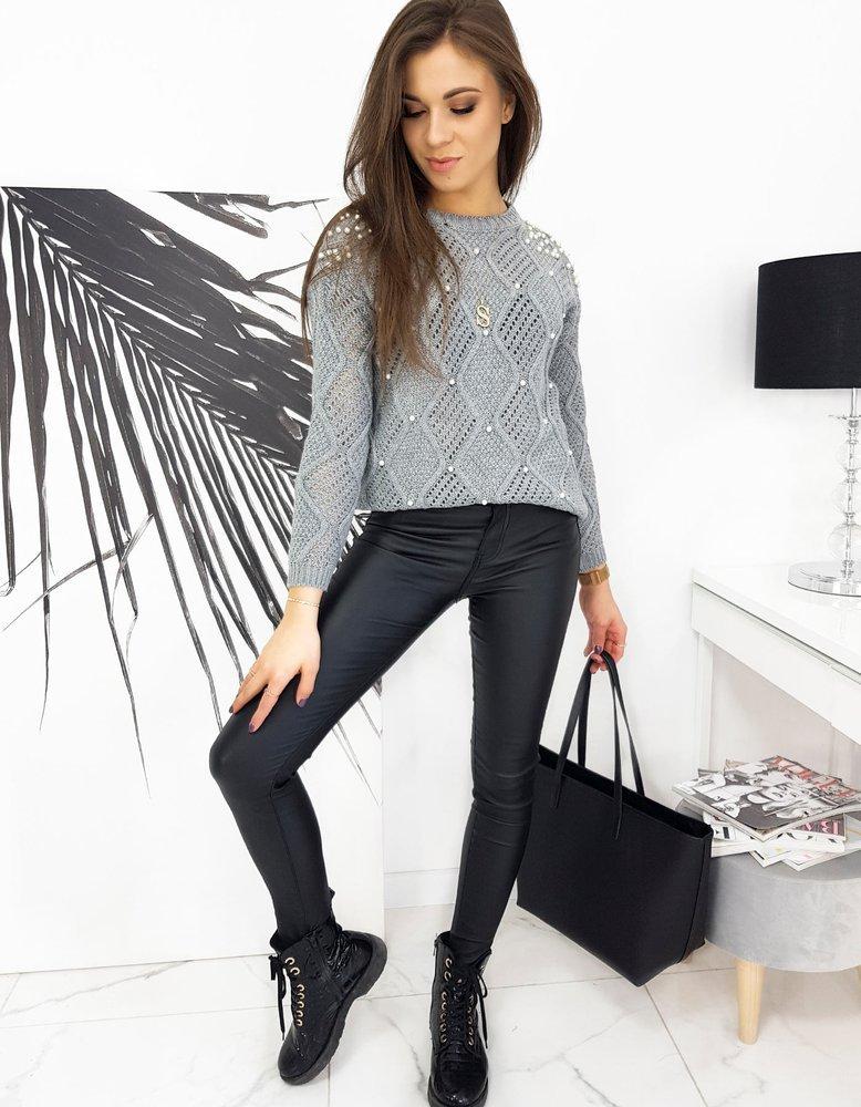Sweter damski CLORENA jasnoszary MY0816