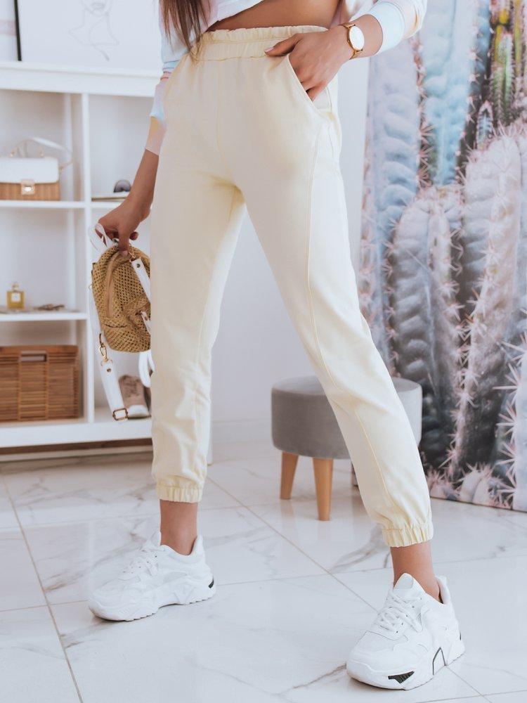 Spodnie damskie dresowe STIVEL żółte Dstreet UY0909