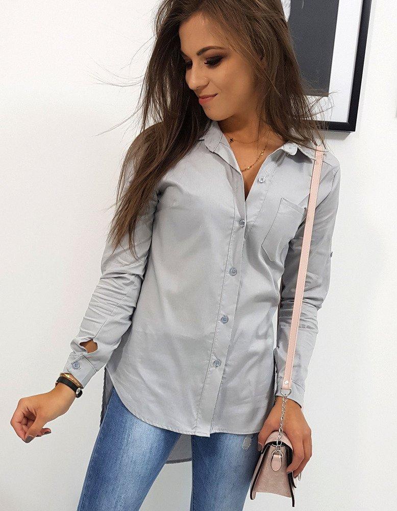 Koszula damska STREET LOOK szara (dy0177)