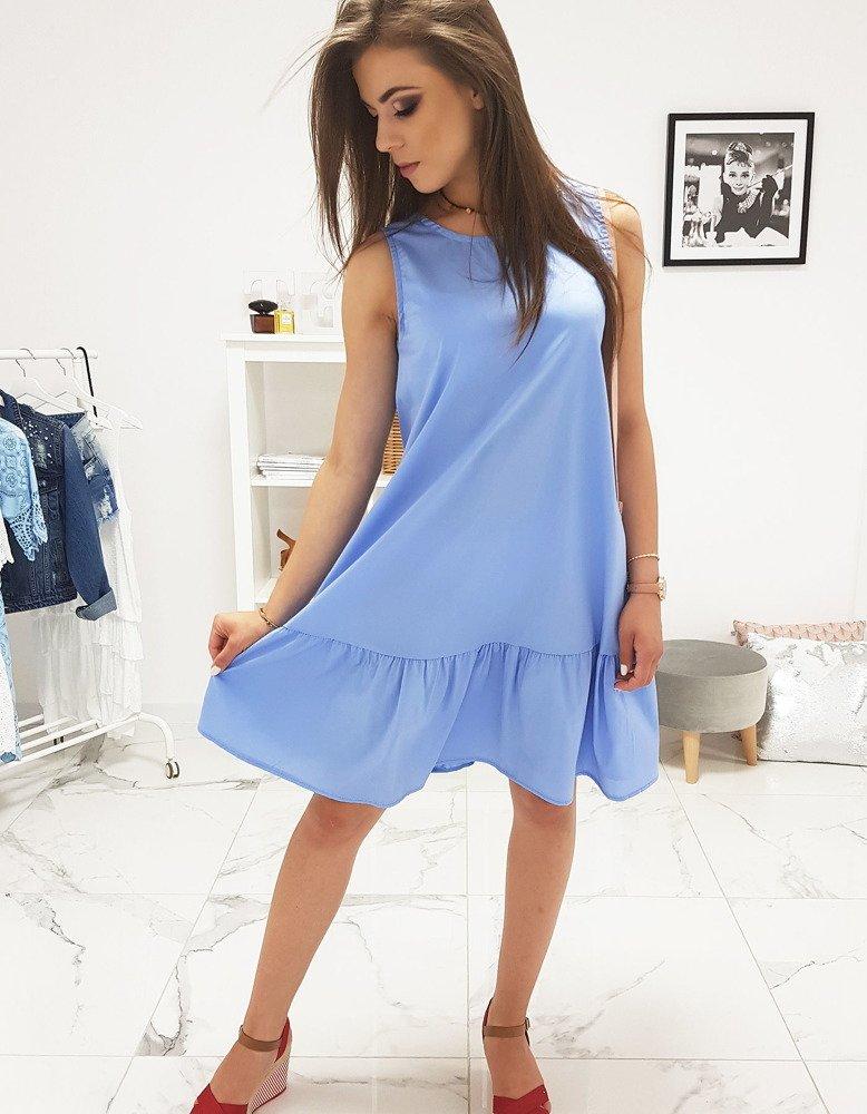 Modré dámske šaty (ey0951)
