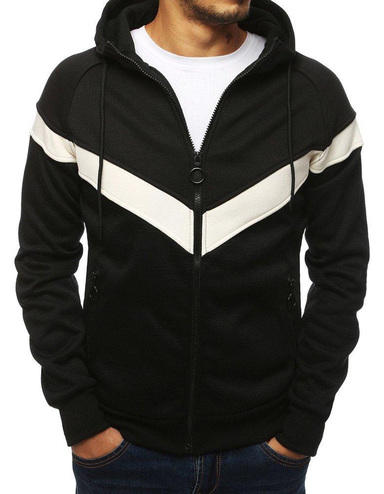 Bluza męska rozpinana z kapturem czarna BX4132