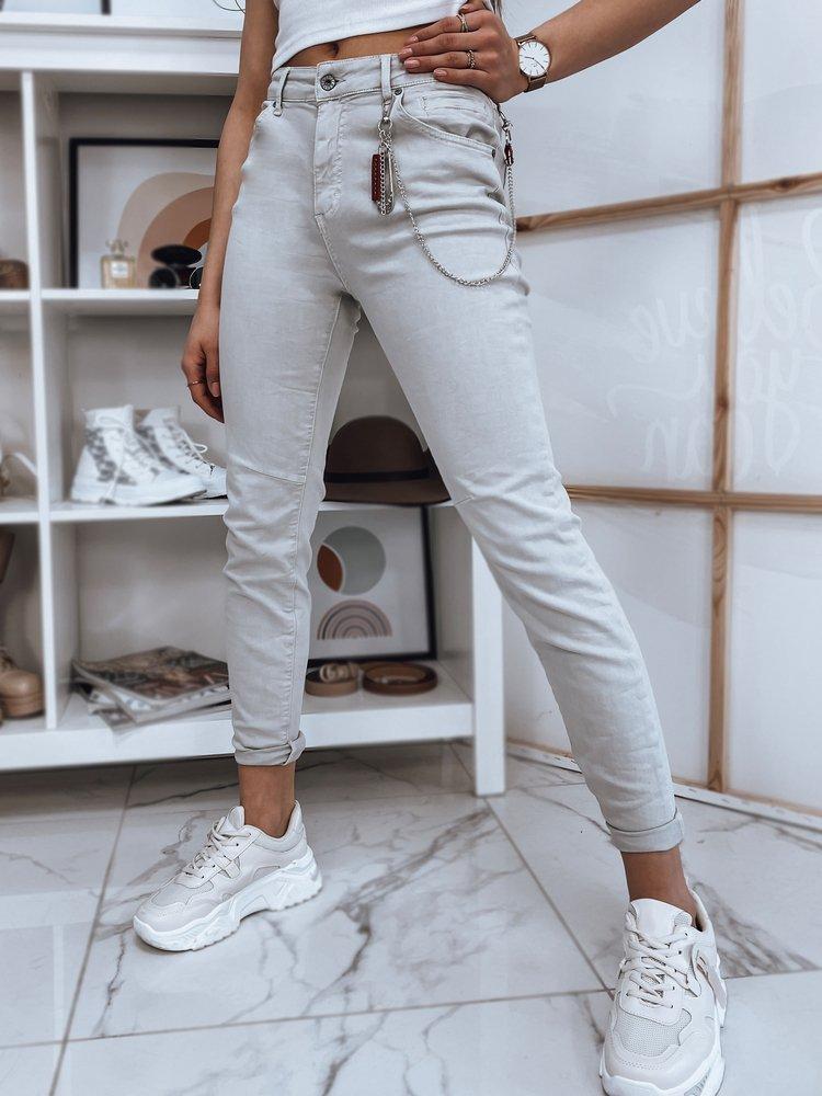 Spodnie damskie jeansowe FABIANA jasnoszare UY0727