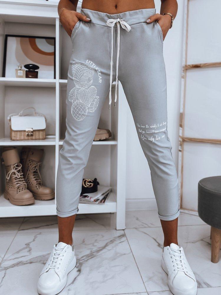 Spodnie damskie dresowe BEAR II jasnoszare UY0769