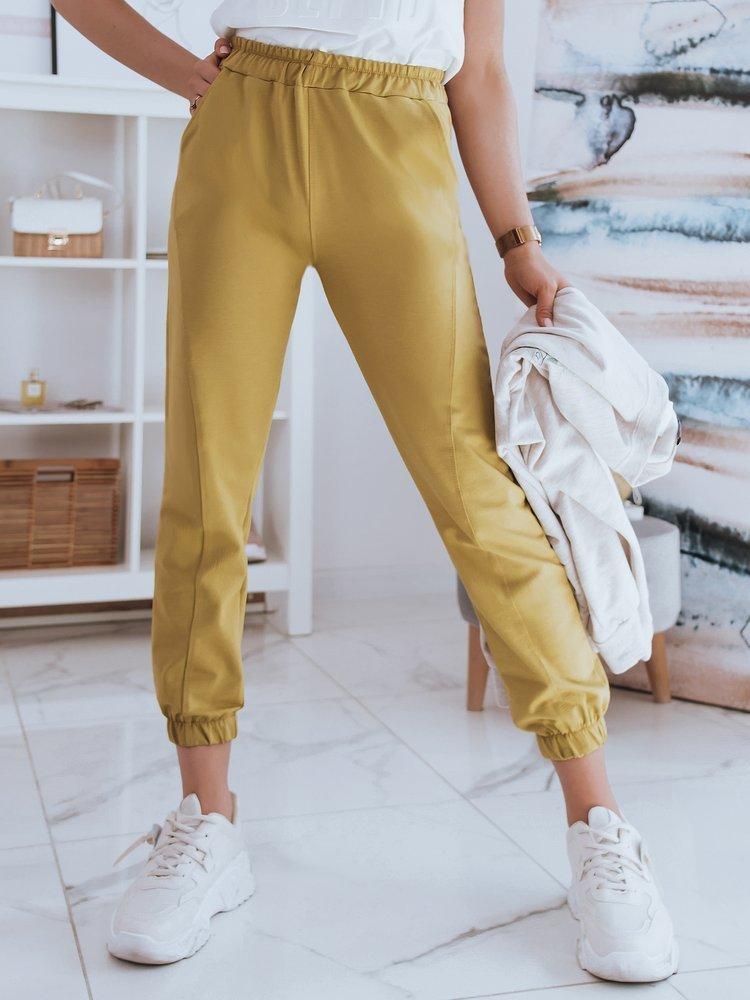Spodnie damskie dresowe STIVEL musztardowe Dstreet UY0919