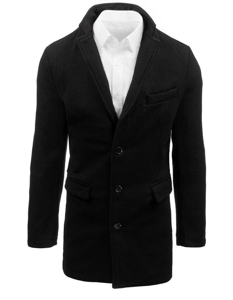 Čierny štýlový kabát pre pánov (cx0380)