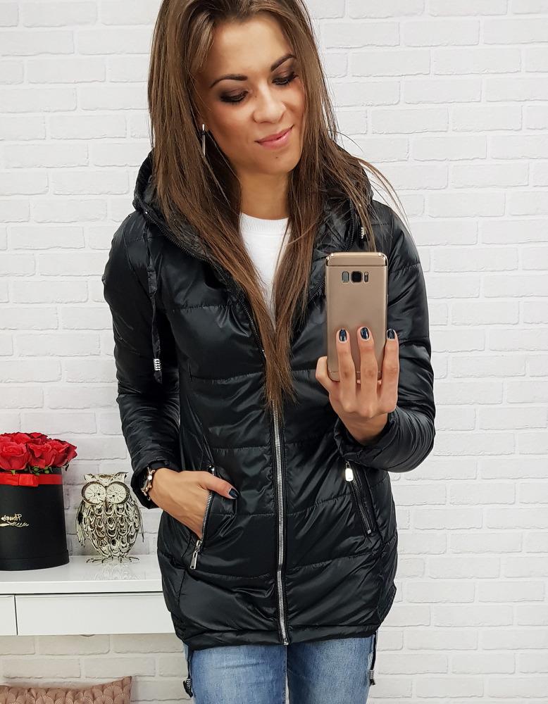 Čierna dámska prešívaná bunda (ty0370)