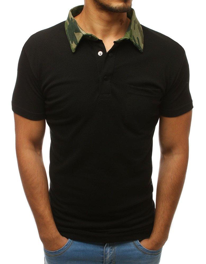 Pánske čierne polo tričko