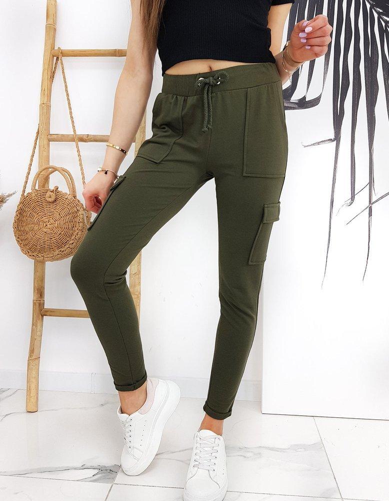 Spodnie damskie IVET oliwkowe UY0526