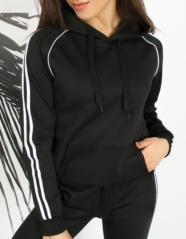 Bluza damska dresowa LAMI czarna Dstreet BY0601