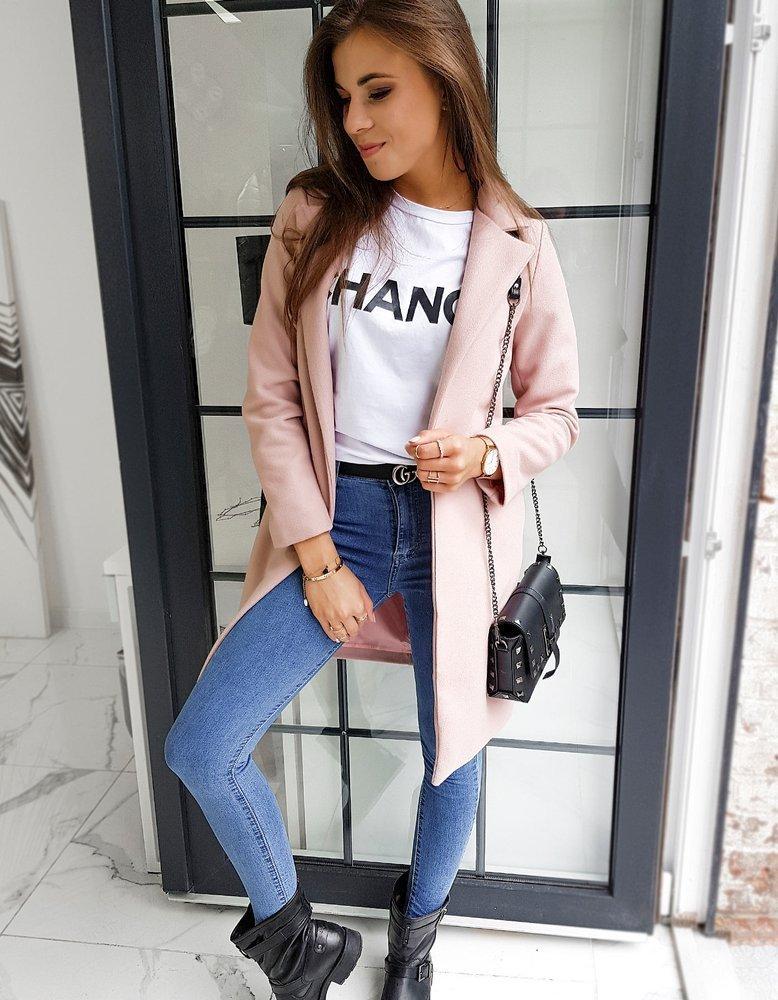 Płaszcz damski MODELLO różowy NY0351