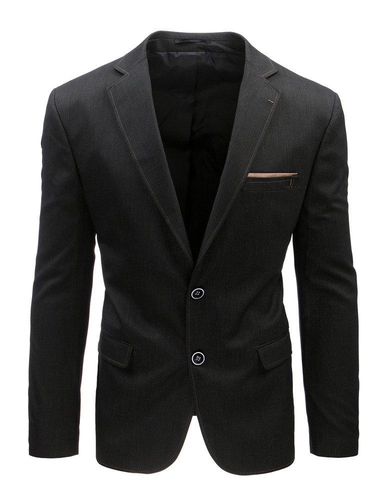 Pánske čierne jednoradové sako (mx0373)