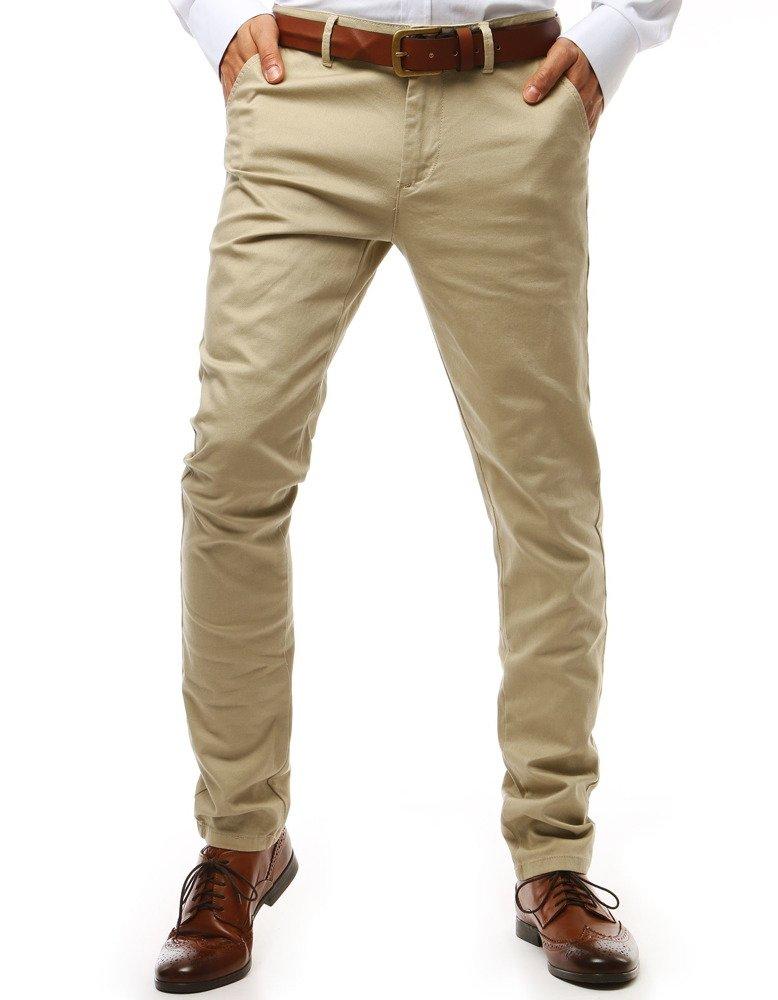 Pánske nohavice béžovej farby
