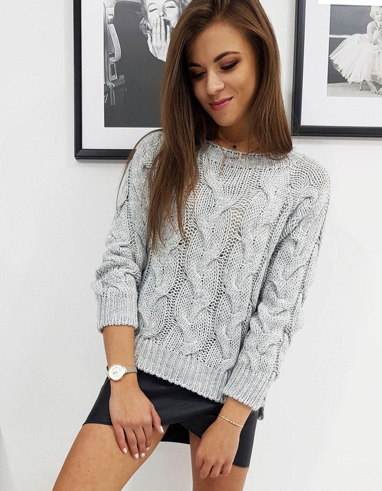 Sweter damski LISS jasnoszary MY0601
