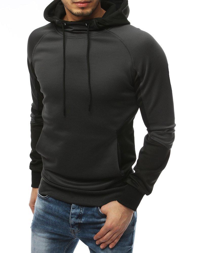 Bluza męska z kapturem antracytowa BX4367