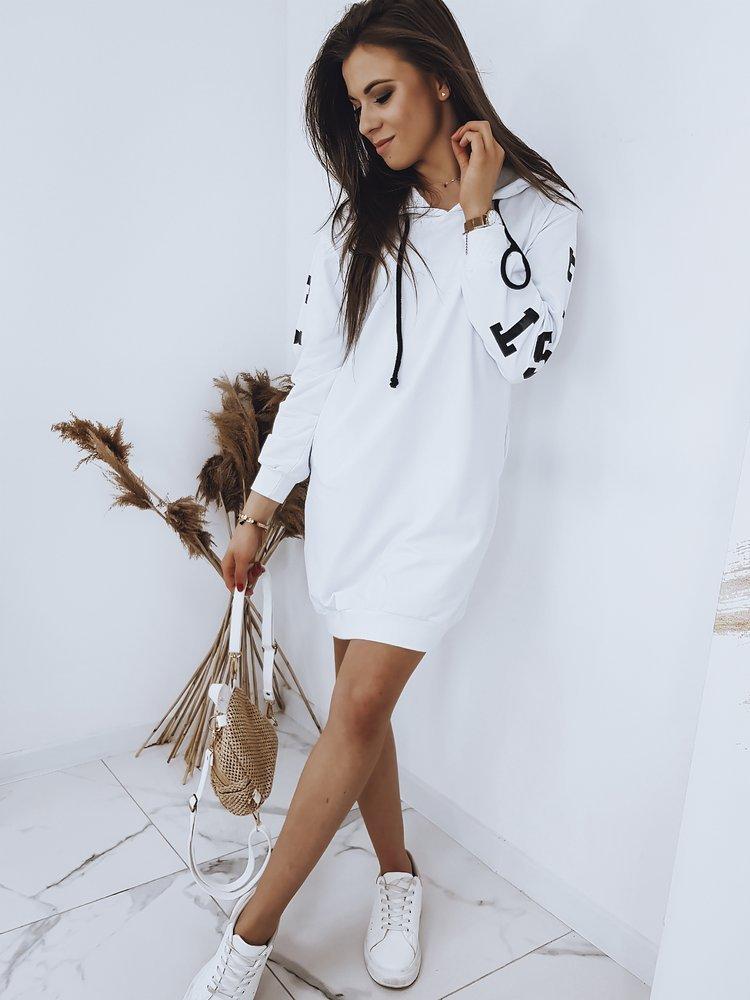 Bluza damska OVER LONG biała BY0404