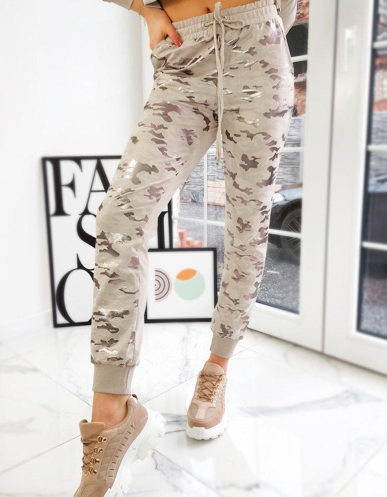 Spodnie damskie dresowe EVA beżowe UY0740