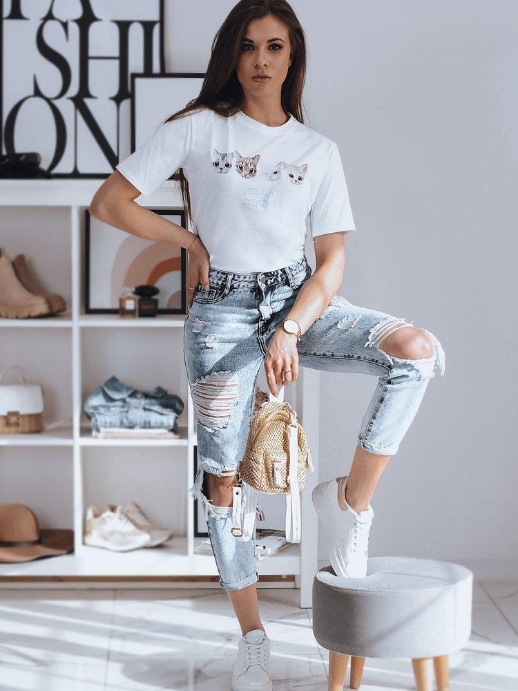 T-shirt damski EJLO biały Dstreet RY1612