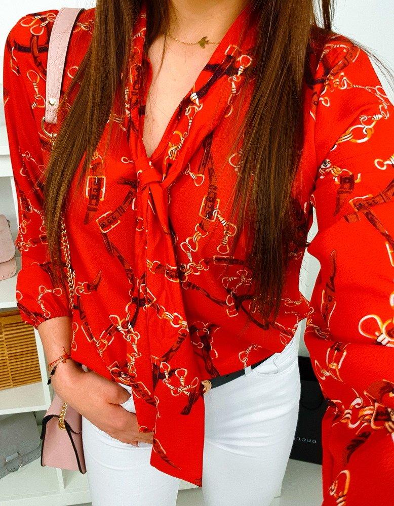 Bluzka damska ZOE czerwona (ry0539)