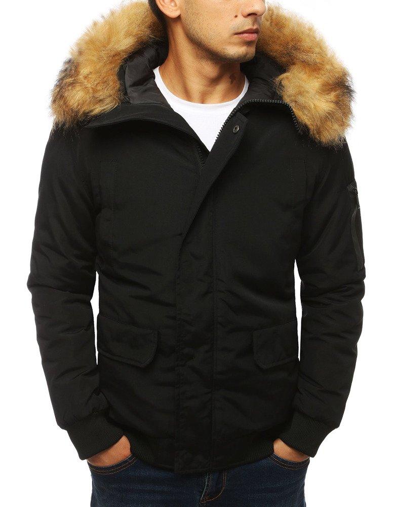 Zimná pánska bunda v čiernom prevedení (tx2967)