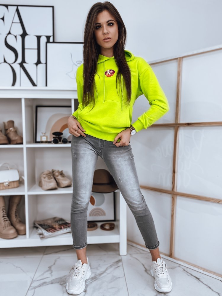 Bluza damska COSMO limonkowa Dstreet BY0891