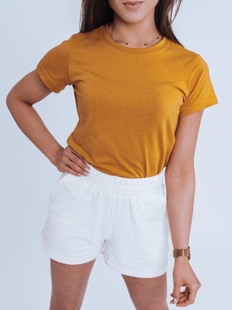 T-shirt damski MAYLA II kamelowy Dstreet RY1738
