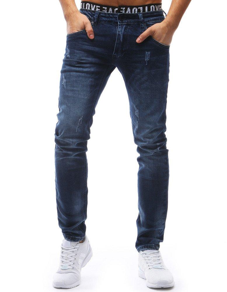 Spodnie jeansowe męskie niebieskie UX1205