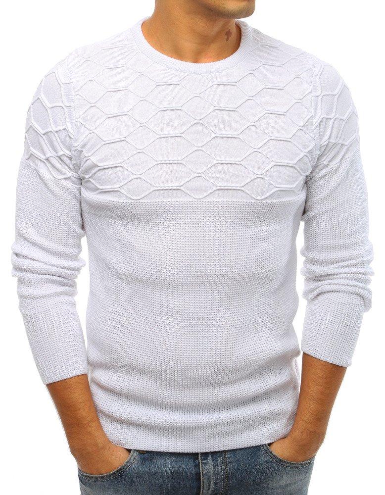 5b2b02544c6d Pánsky sveter biely