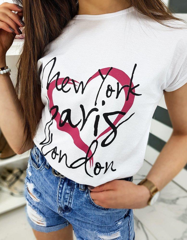 T-shirt damski CITY biały RY1319