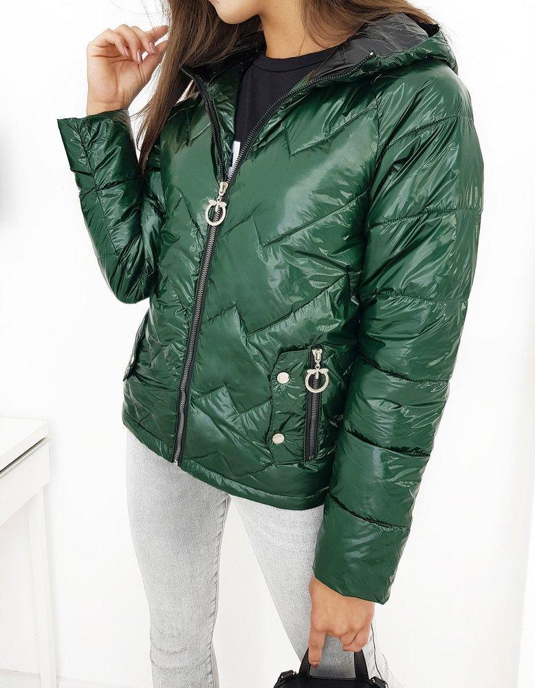 Dámska prešívaná bunda zelená