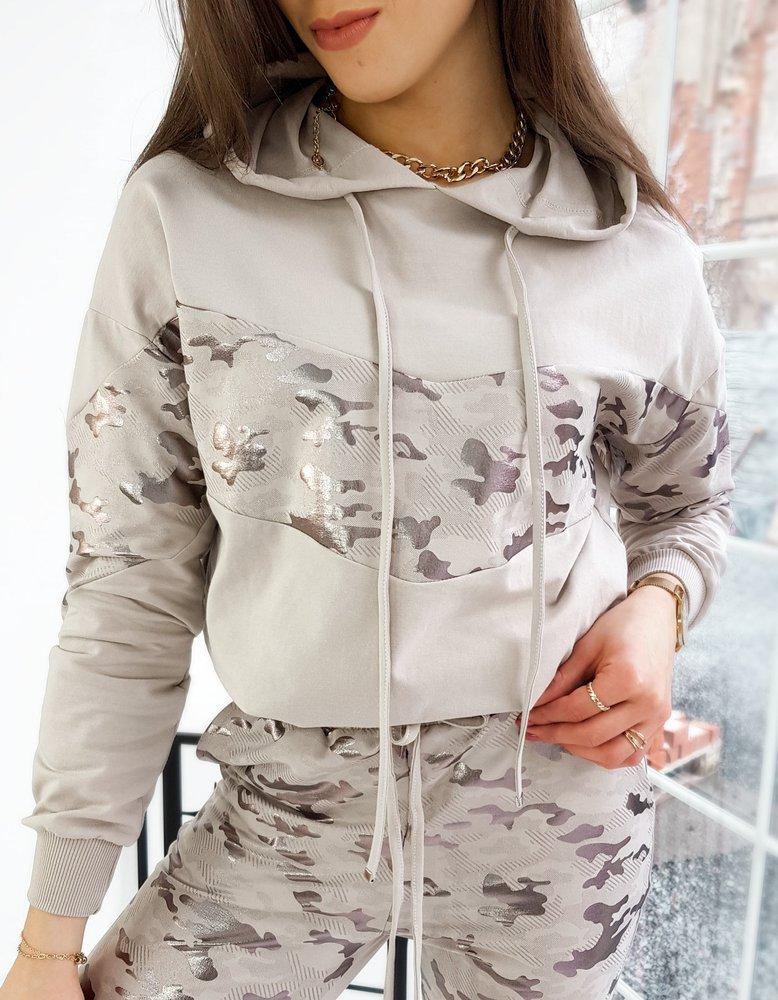 Bluza damska dresowa EVA II beżowa BY0703