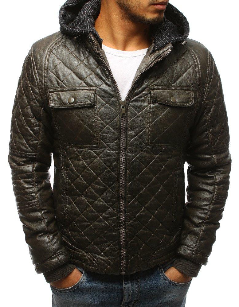 Pánska trendová bunda v khaki prevedení (tx2431)