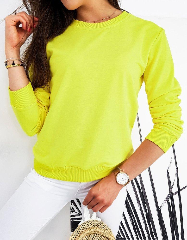 Bluza damska CARDIO cytrynowa BY0433