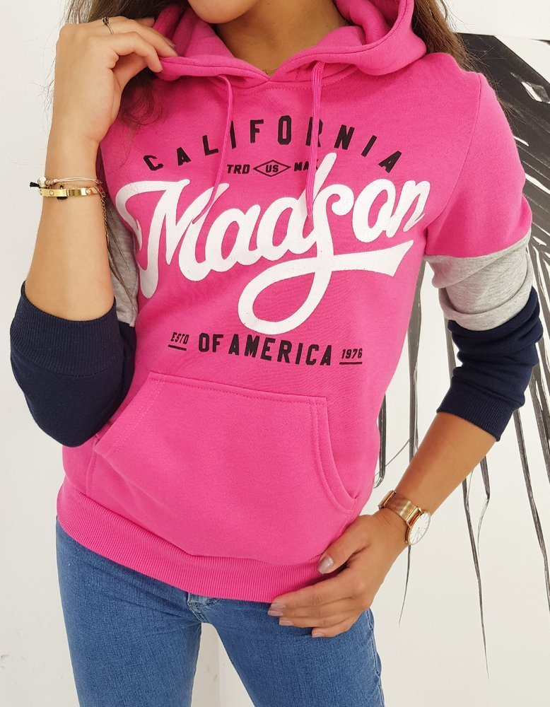 Bluza damska CALIFORNIA różowa BY0504