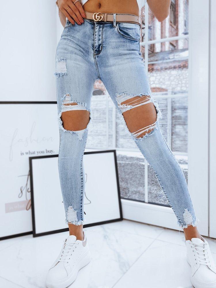 Spodnie damskie jeansowe ALABAMA jasnoniebieskie UY0719