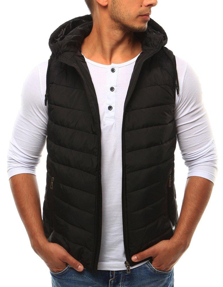 Praktická čierna pánska vesta (tx1670)