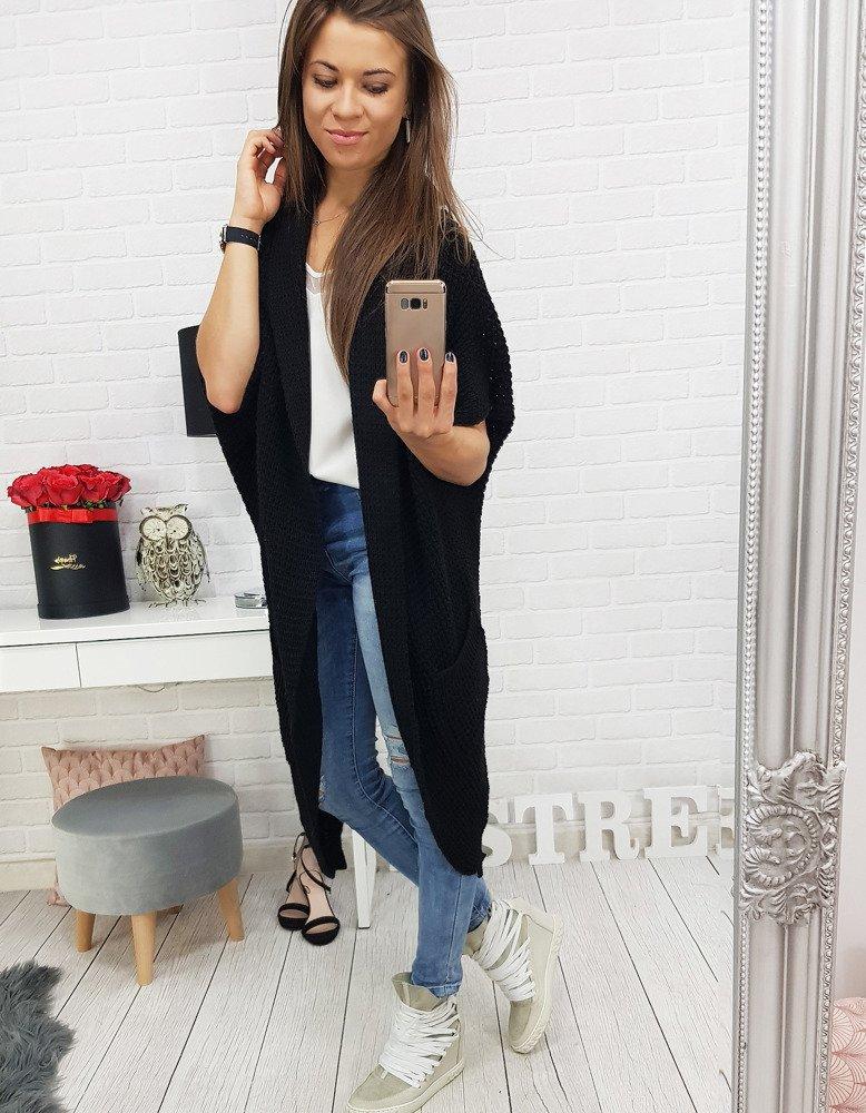 Sweter damski LONGREACH czarny (my0343)