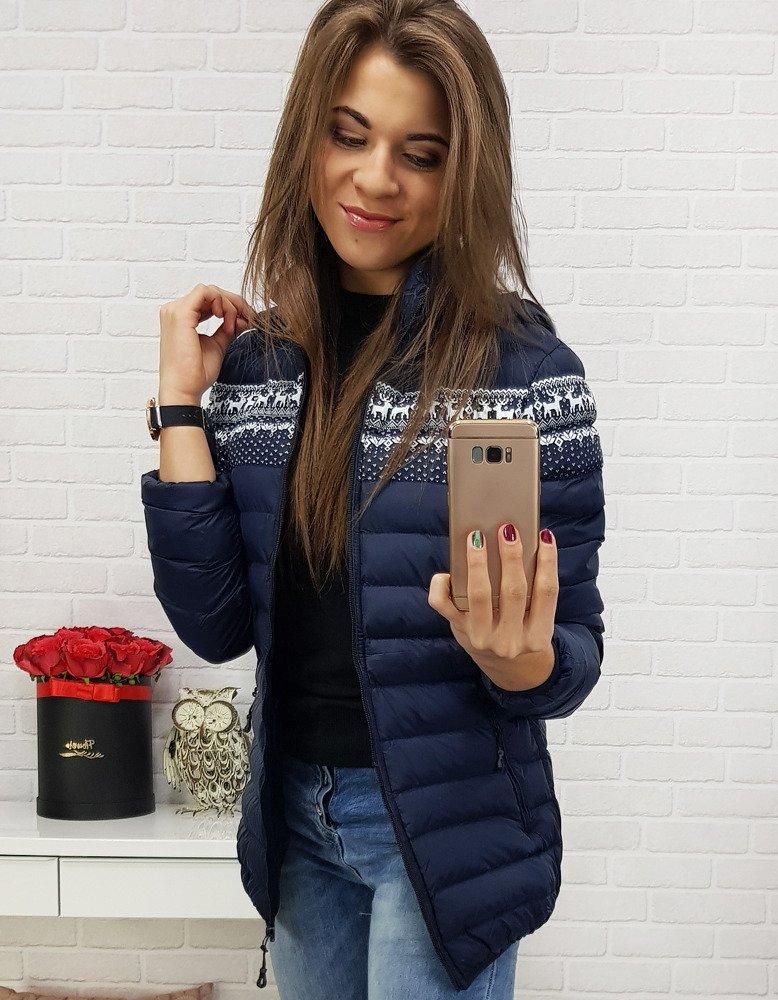 Granátová dámska zimná bunda (ty0426)