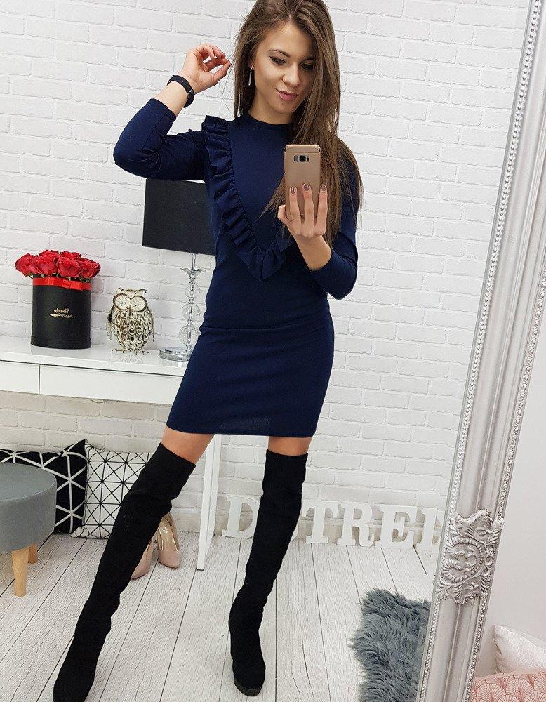 Dámske modré elegantné šaty (ey0627)