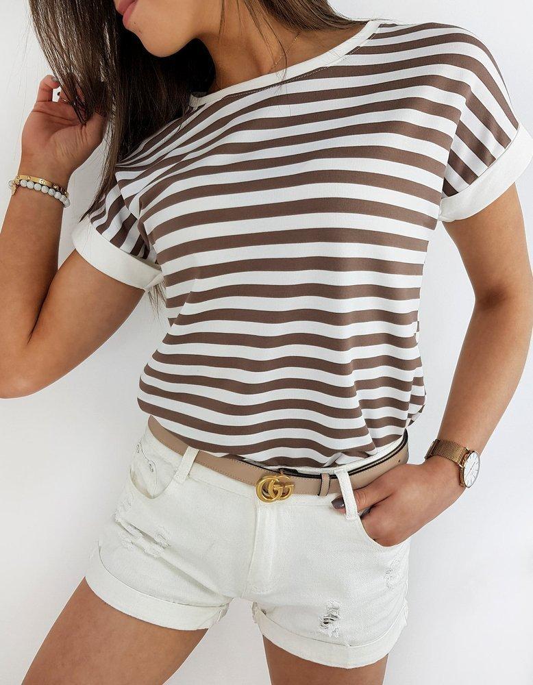 T-shirt damski PORTOS beżowy RY1372