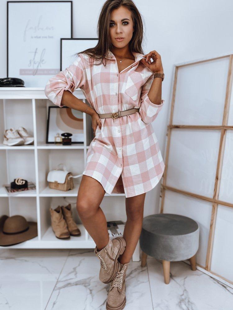 Koszula damska COSTA różowa DY0209