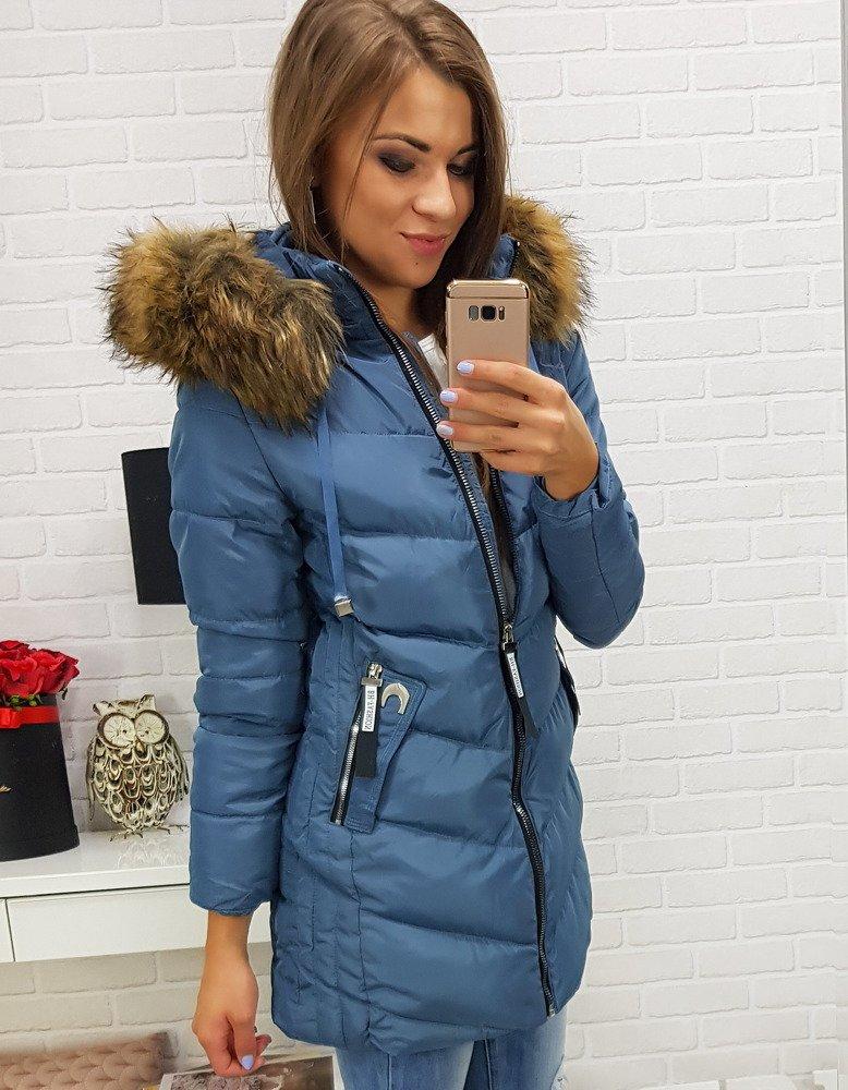 Pekná dámska zimná bunda s prešívaním (ty0281)