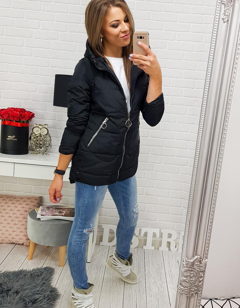 Dámska čierna bunda (ty0330)
